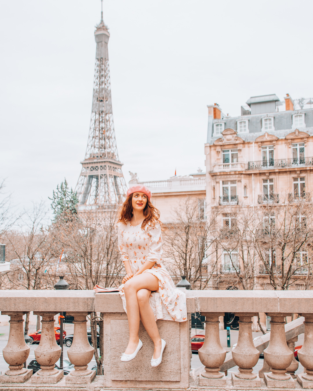 Girl sitting in Paris