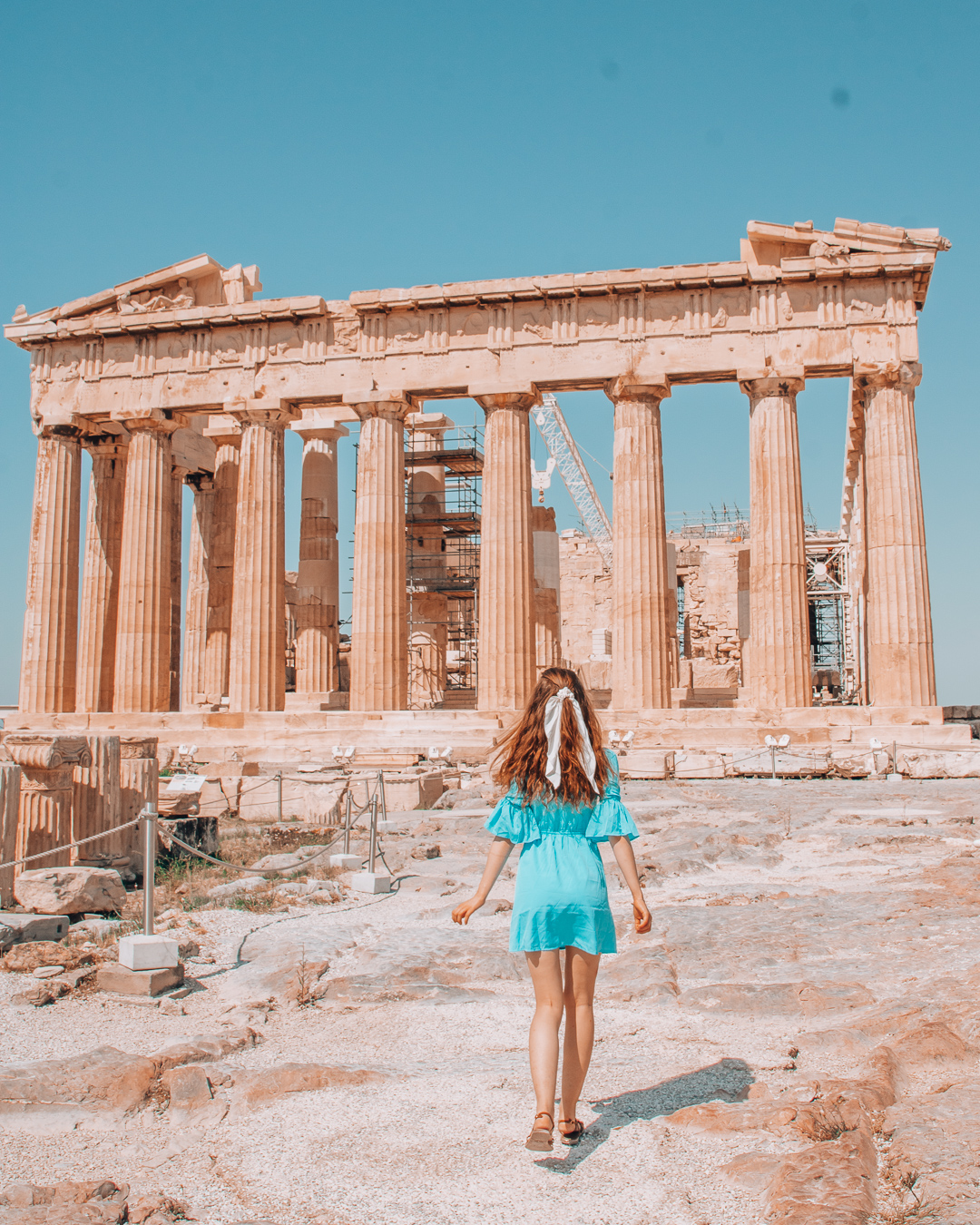 Girl at the Acropolis