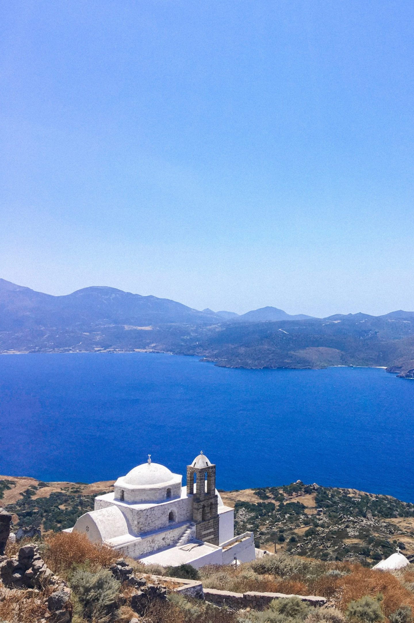 View from the Venetian Castle of Milos