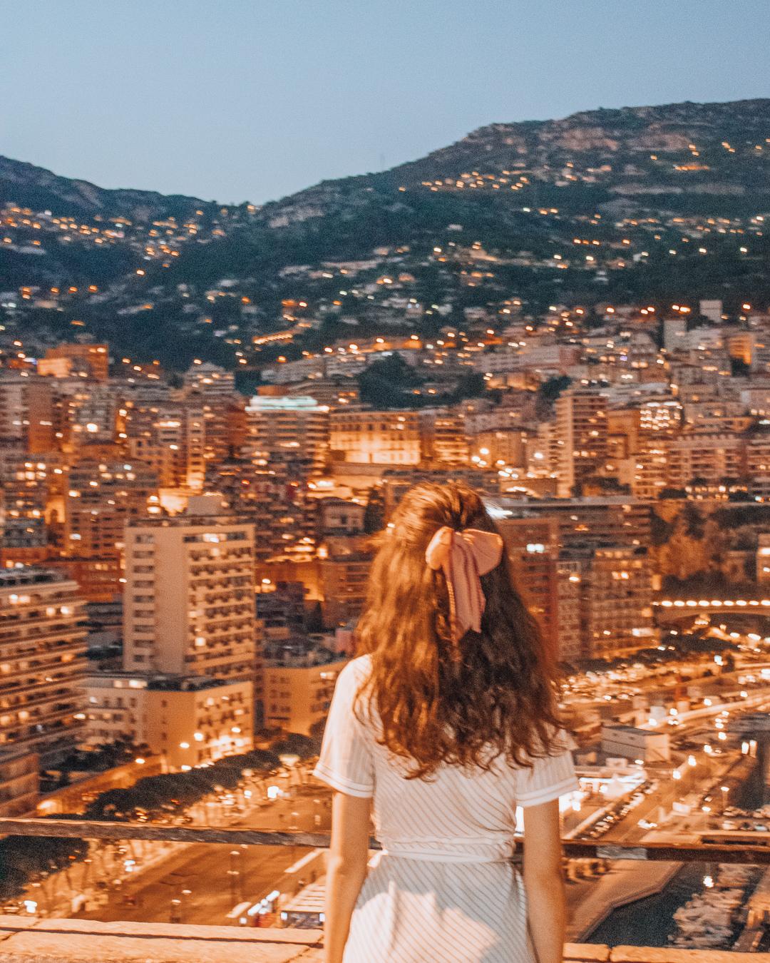 Girl in Monaco in the evening
