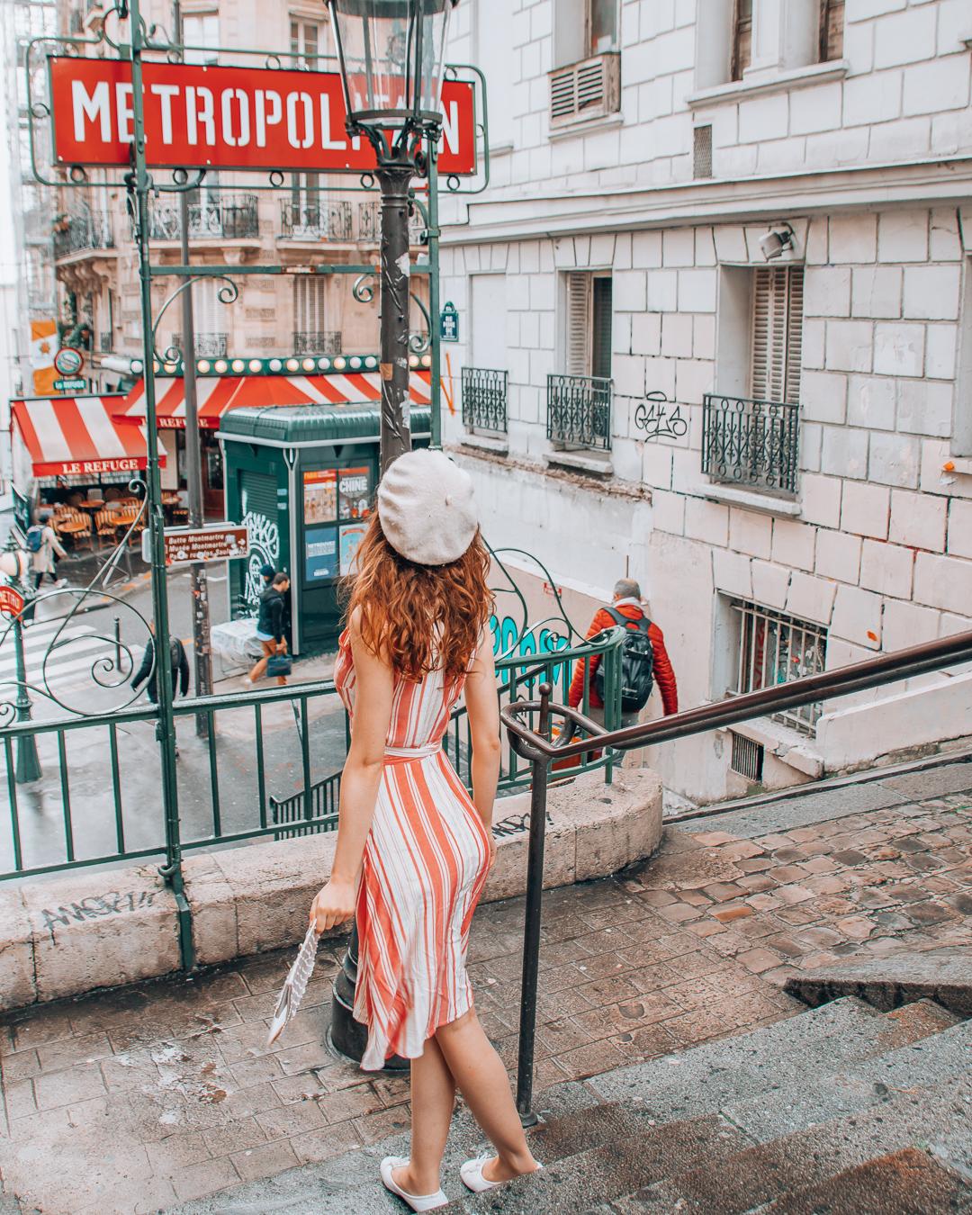 Lamarck-Caulaincourt metro in Paris