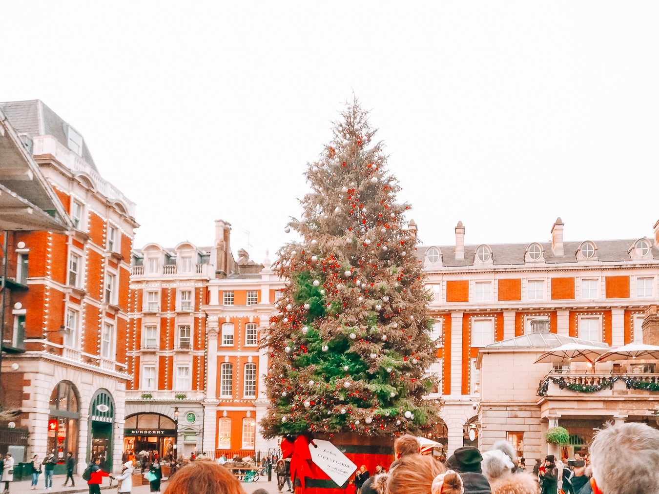Christmas tree at Covent Garden in London