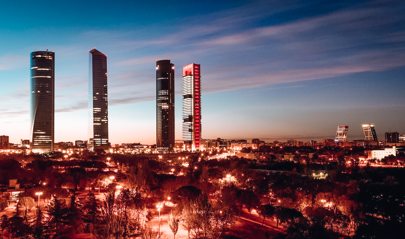 Madrid in the evening