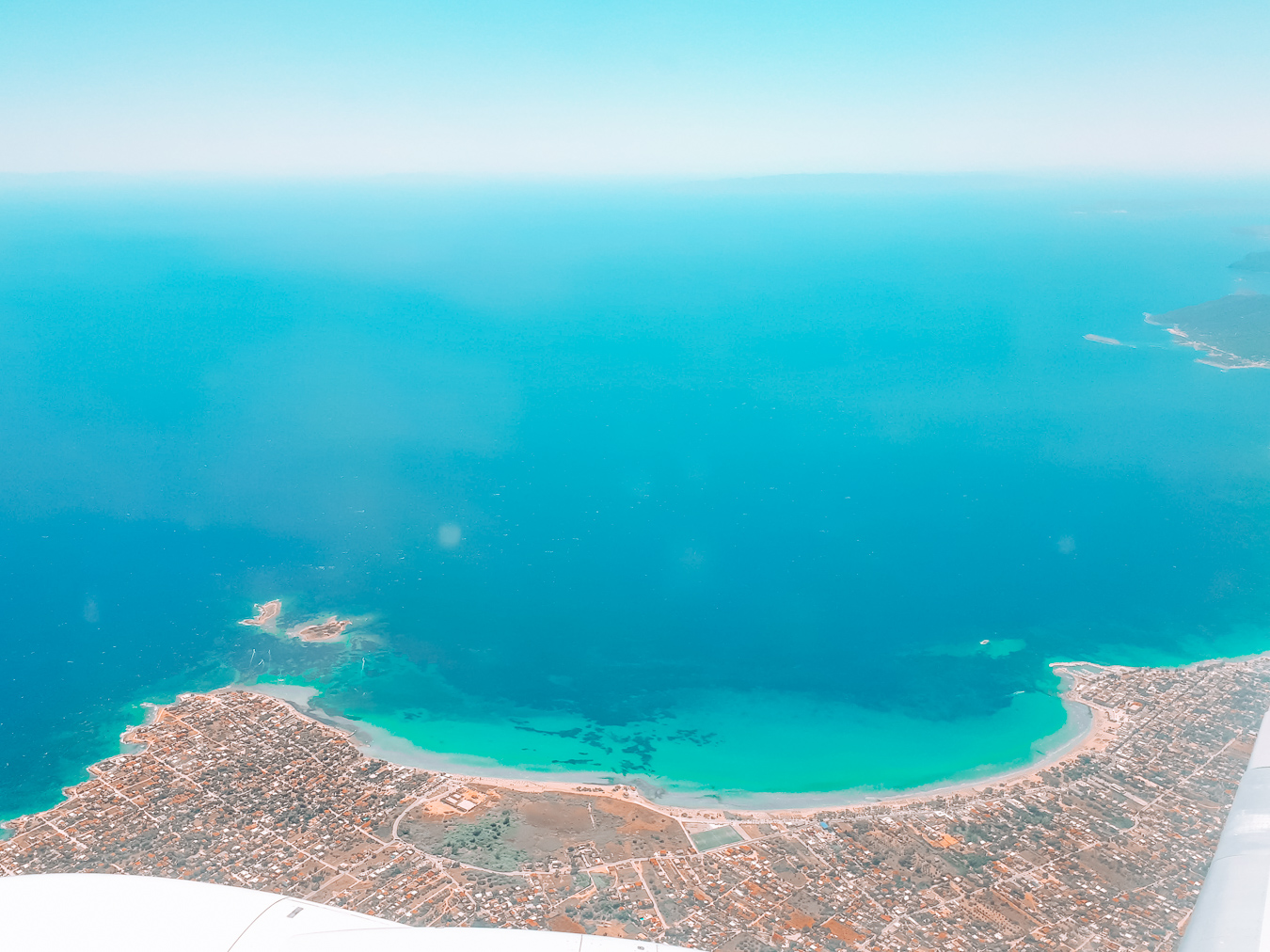 Greece from an airplane
