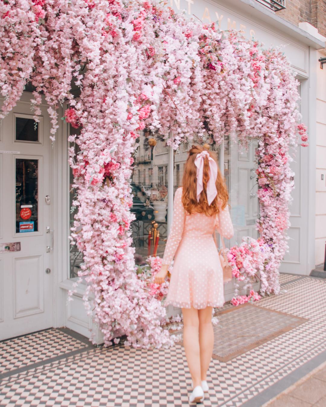 Girl walking towards Saint Aymes