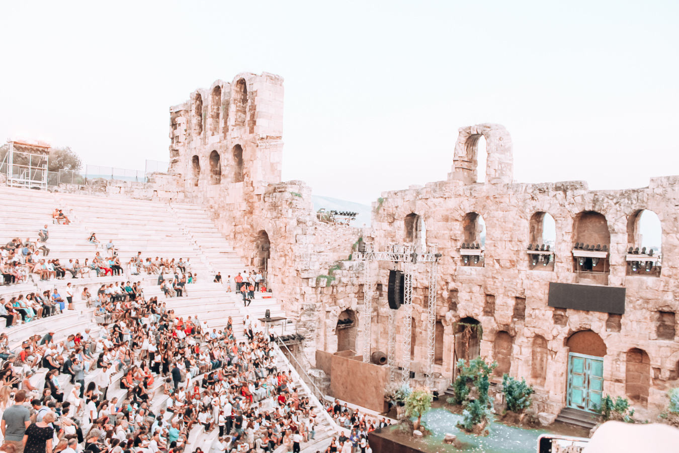 People at the Odeon of Herodius Atticus