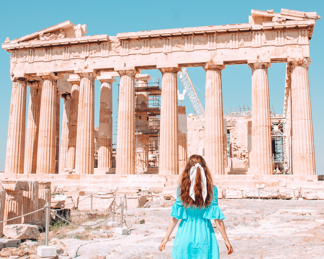 Girl in front of the Parthenon