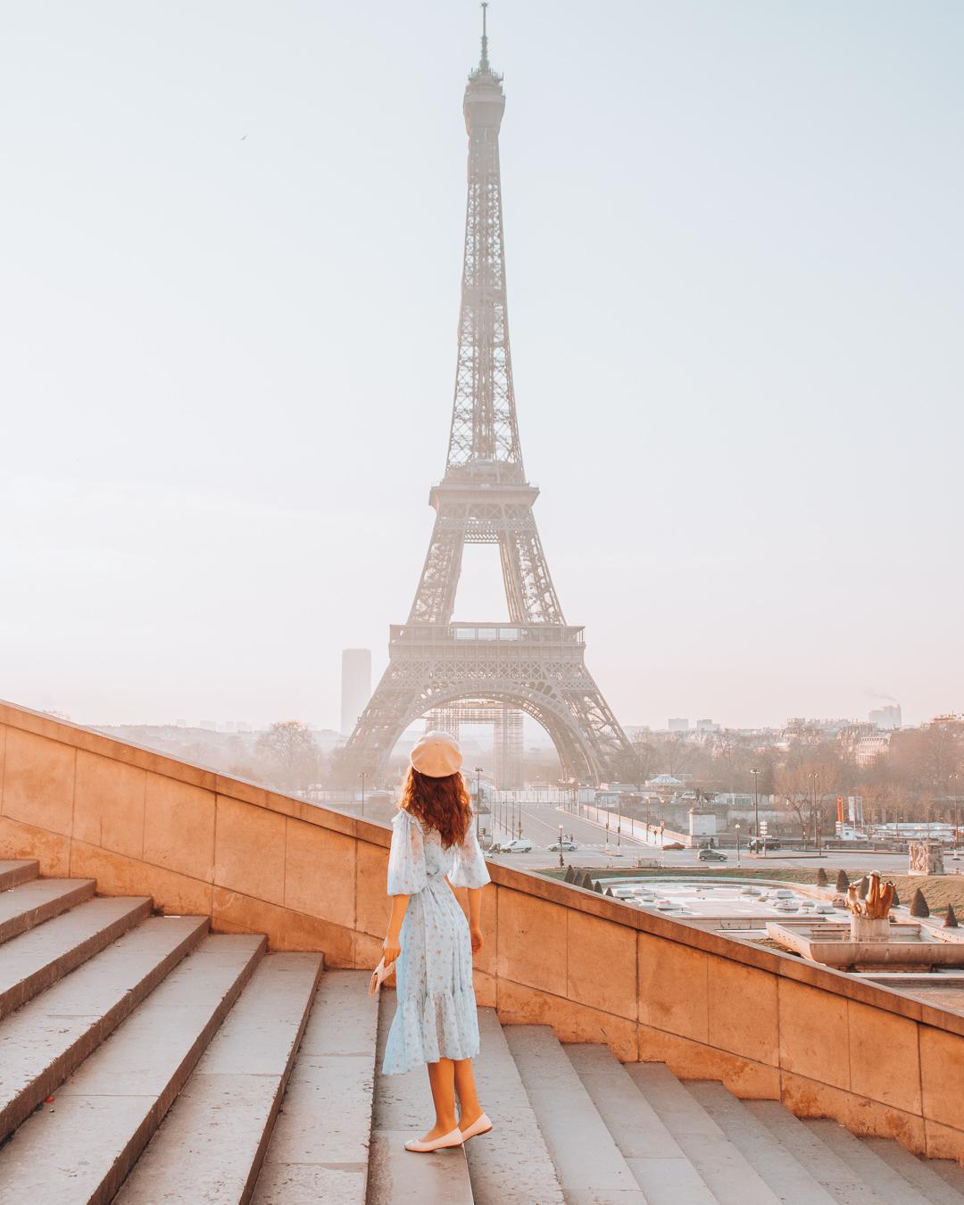 Eiffel Tower at steps of Trocadéro