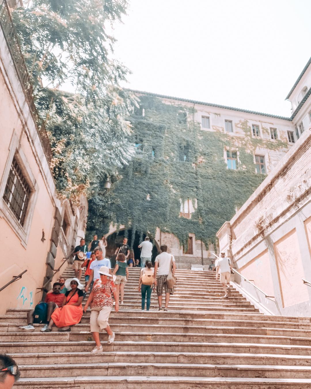 The Borgia Stairs in Rome