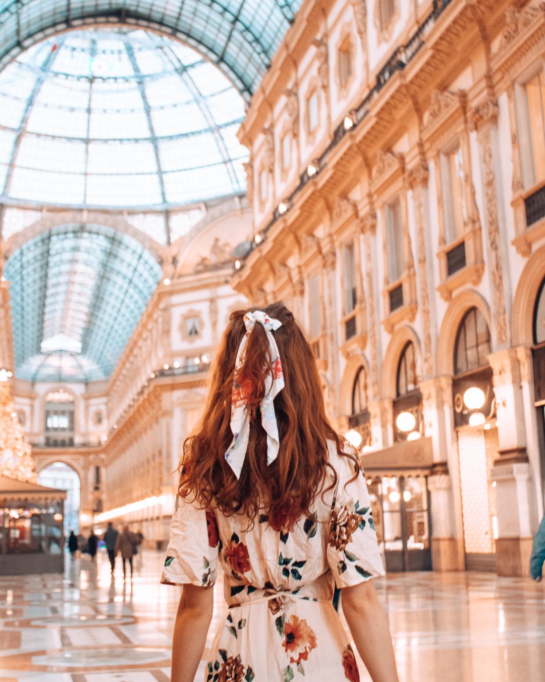 Girl in Galleria Vittorio Emanuele II