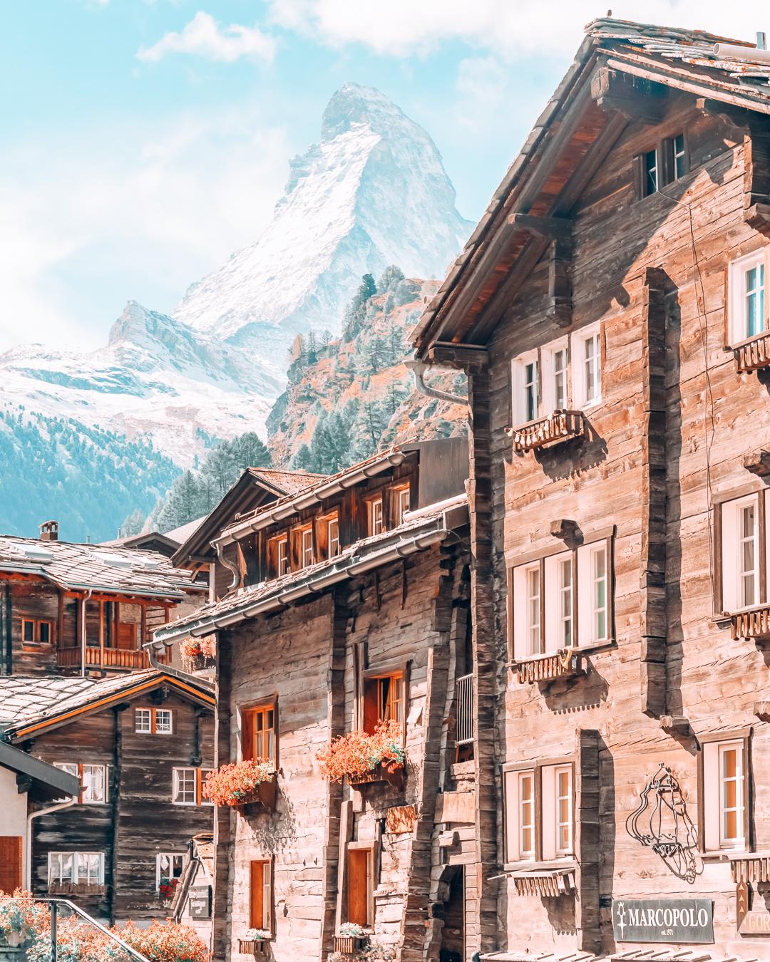 Buildings in Zermatt