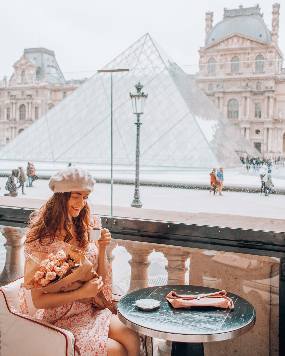 View of the Louvre in Paris
