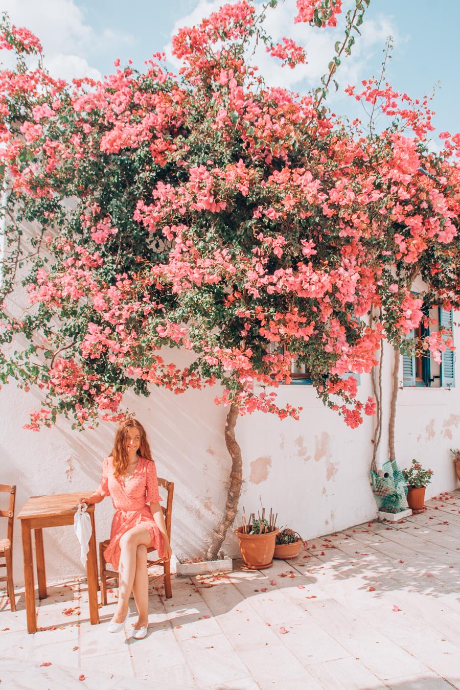 Terrace in Paros