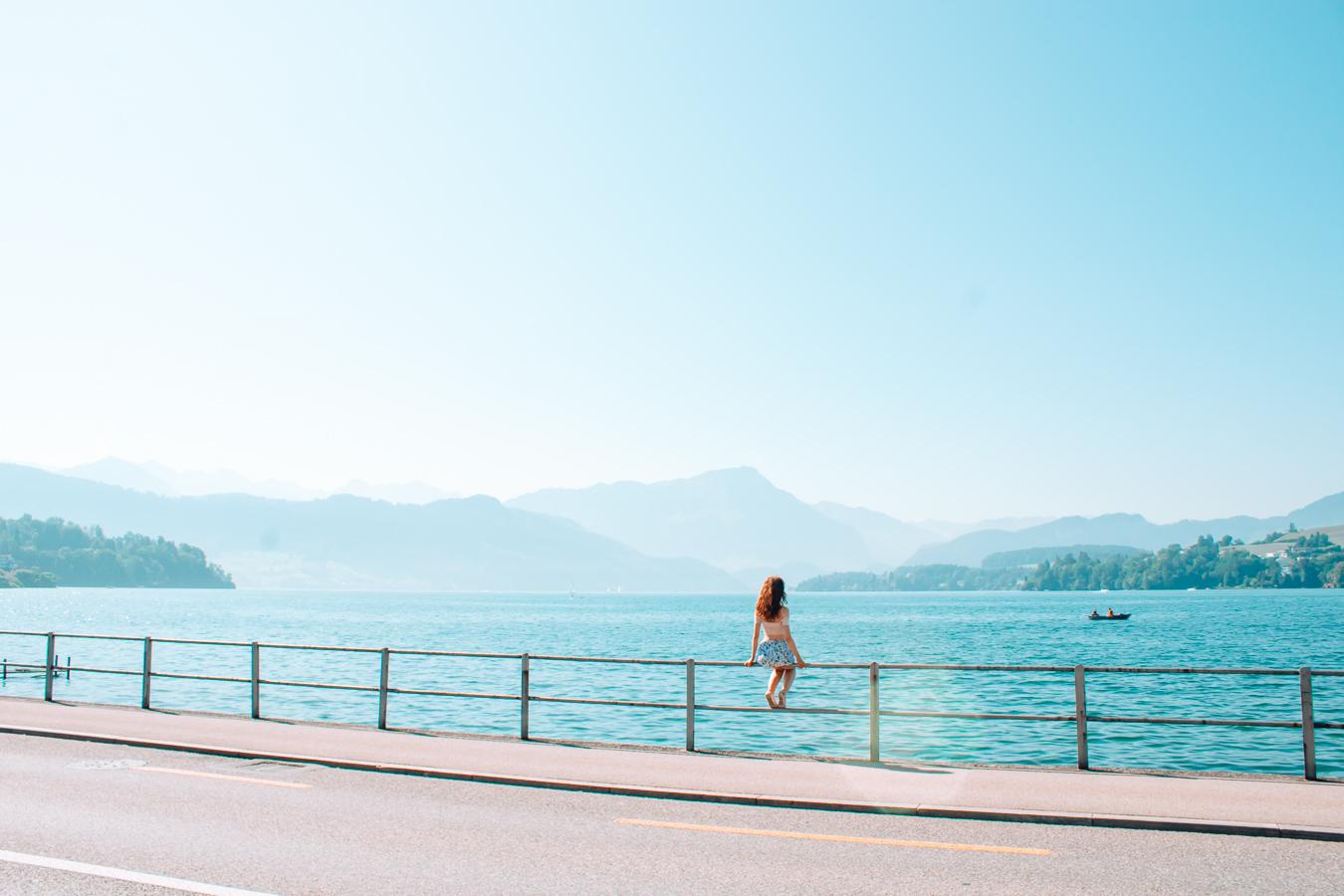 Lake Lucerne in Switzerland, Europe