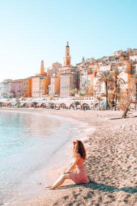 Girl sitting at a beach