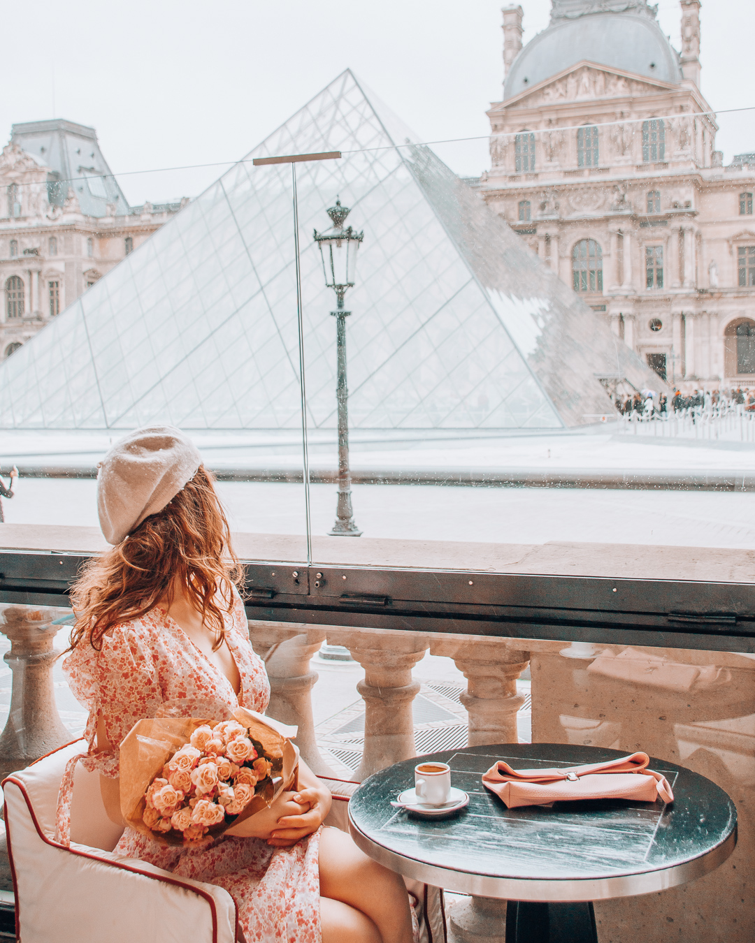 A view of the Louvre in Paris
