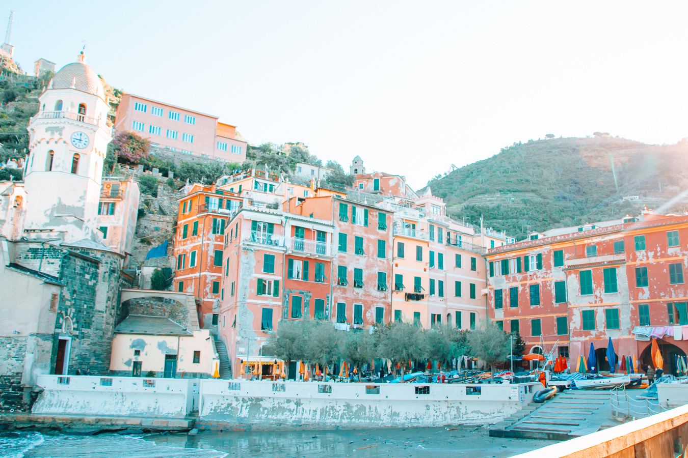A few houses in Vernazza