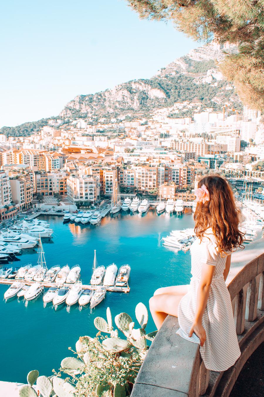 View of Port de Fortvielle in Monaco
