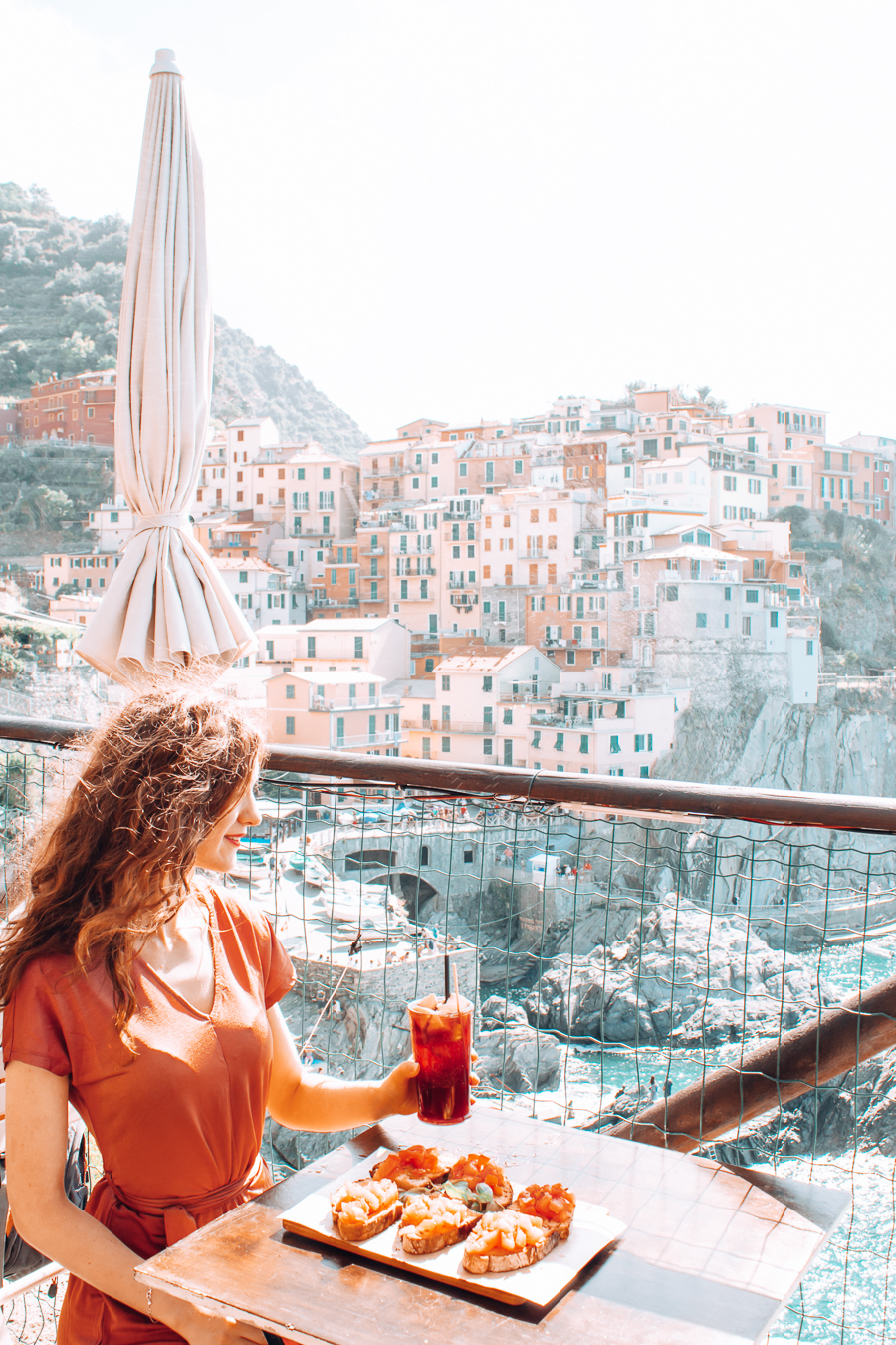 Food and a view at Nessun Dorma in Cinque Terre