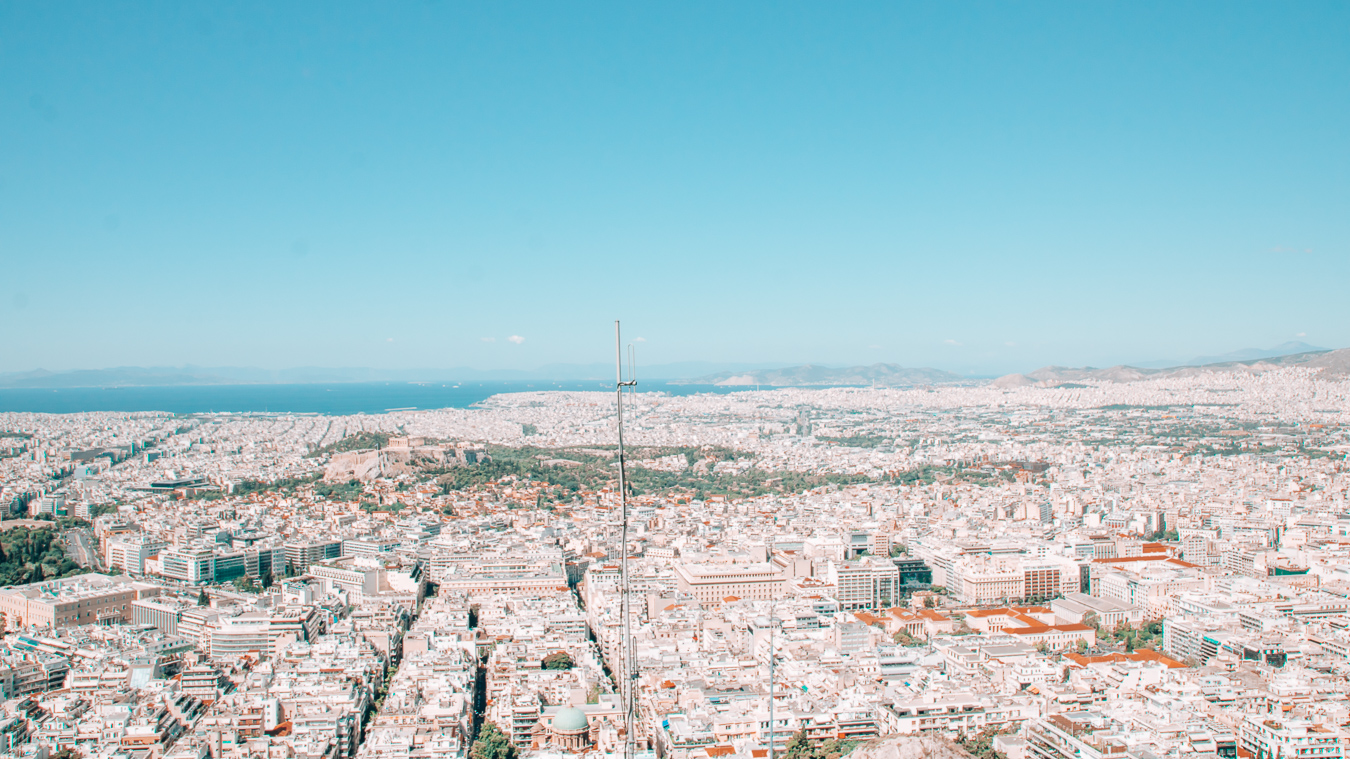 Beautiful view of the city Athens in Europe