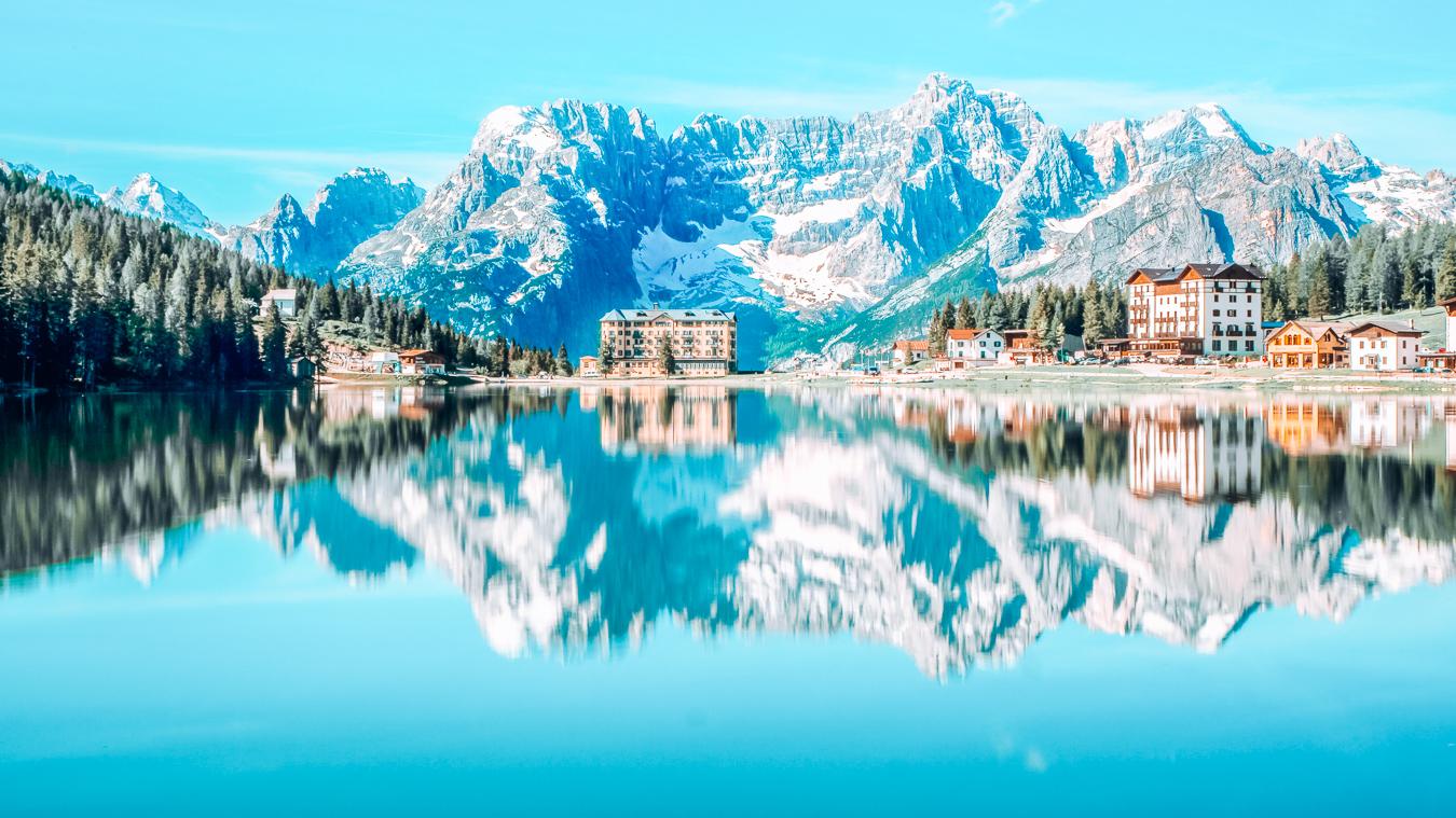 A beautiful view of Lake Misurina
