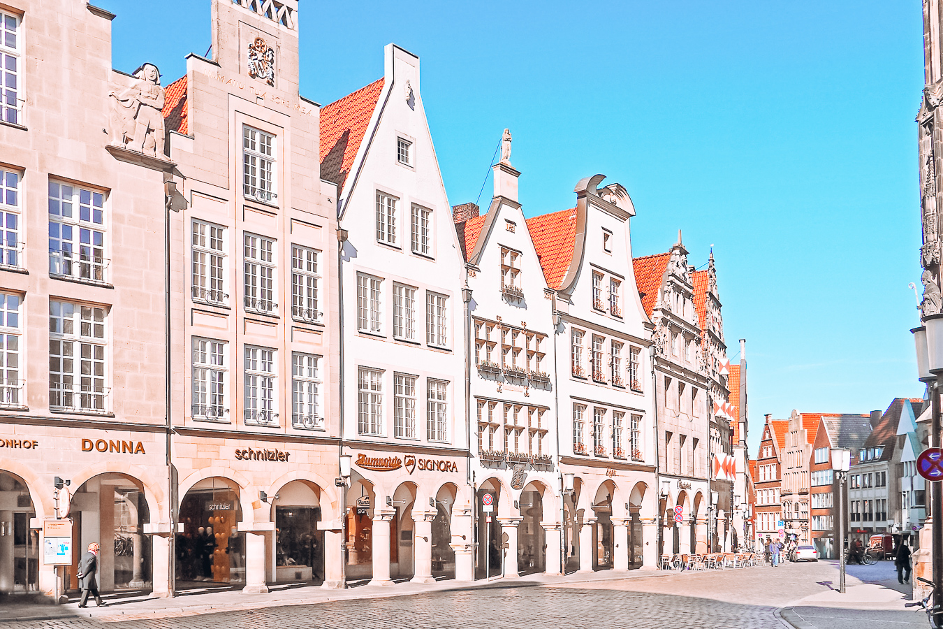 Buildings and shops in Münster