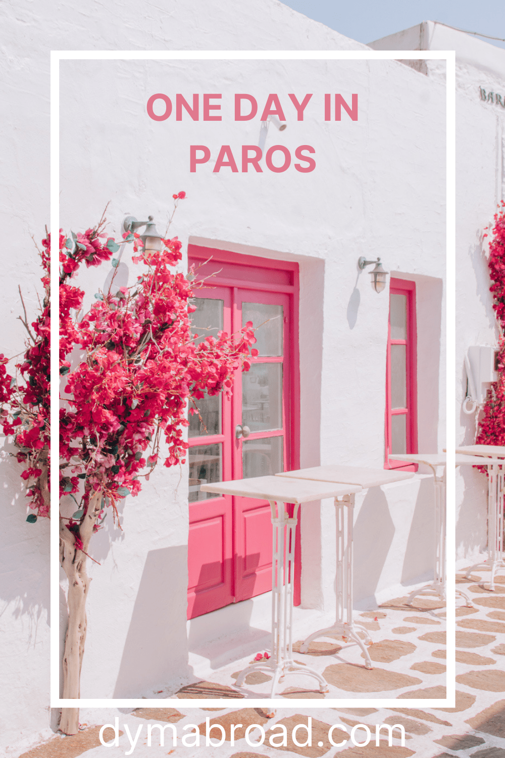 One day in Paros Pinterest image