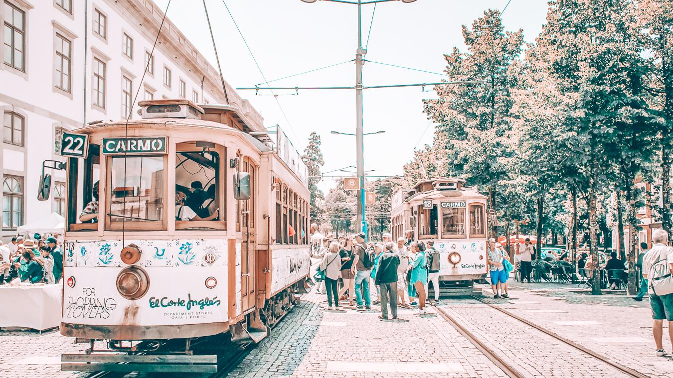 Trams in Porto