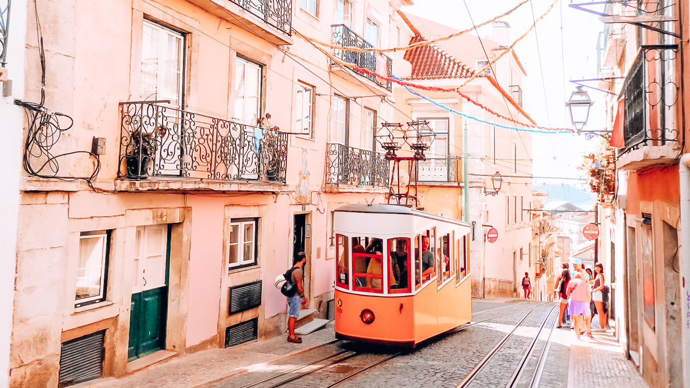 Tram in Lisbon