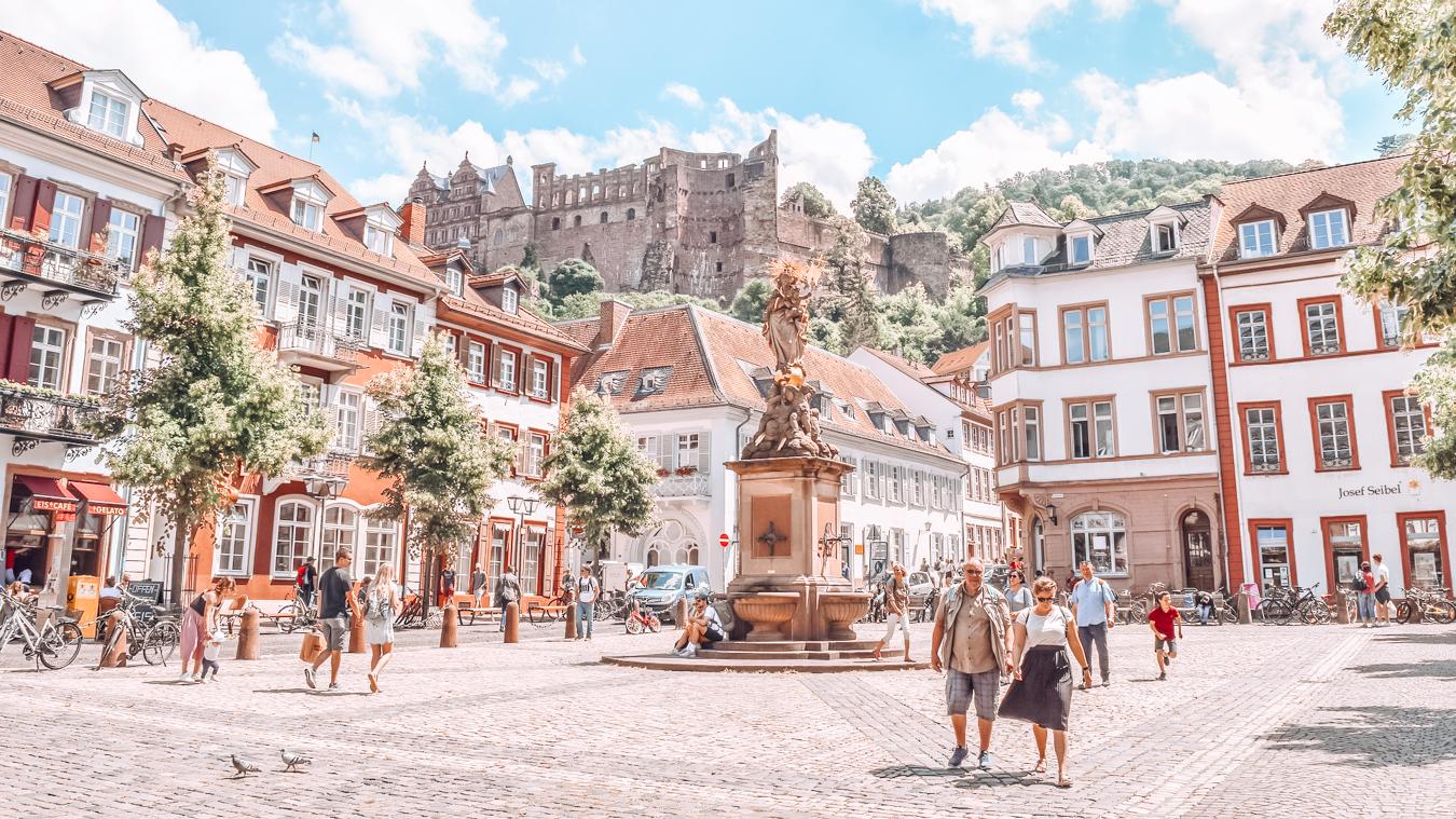 The medieval town Heidelberg in Germany