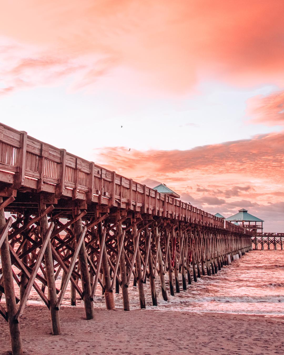 The pier of Folly Beach