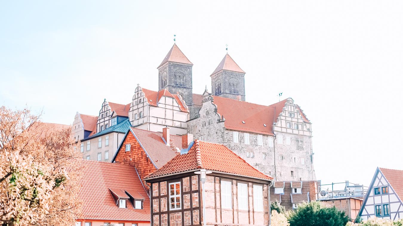 Buildings in the medieval town Quedlinburg in Germany