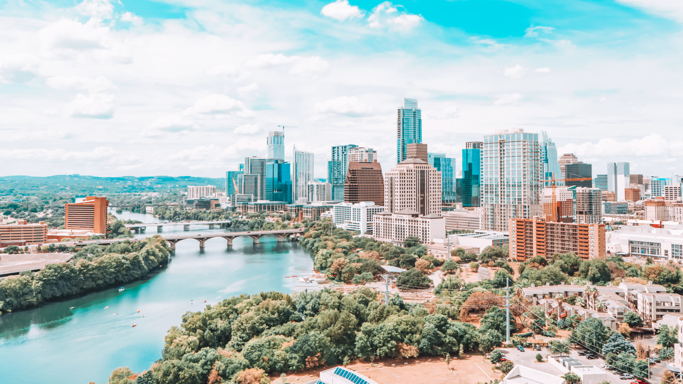 A view of the city of Austin