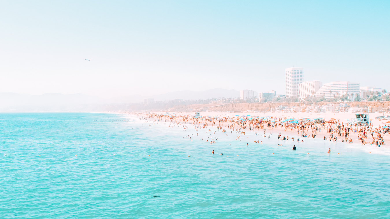 Beach in Los Angeles from the water