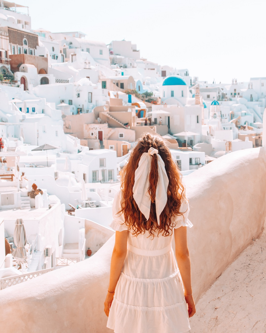 Girl in Santorini