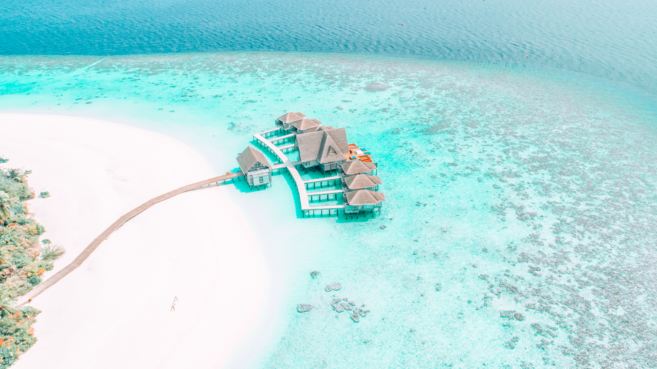 The Maldives from above