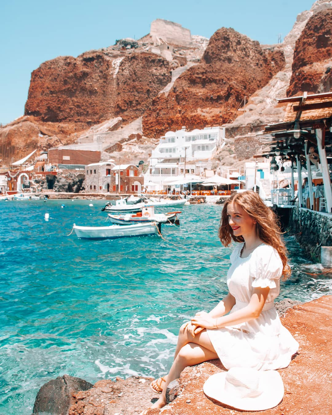 Girl at Amoudi Bay