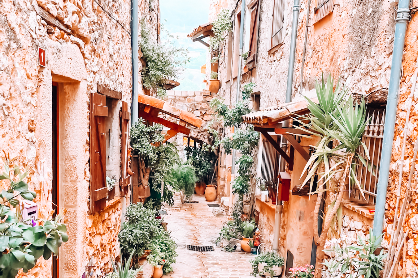 Street in Tourrettes-sur-Loup in France