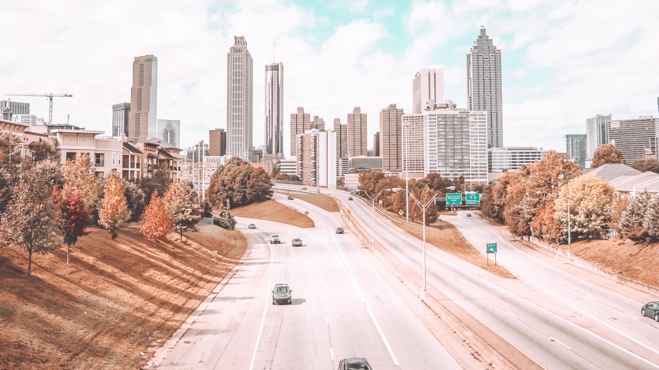 Road and buildings in Atlanta