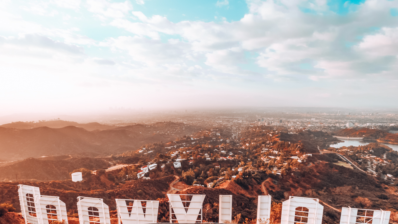Instagrammable view of the city of LA