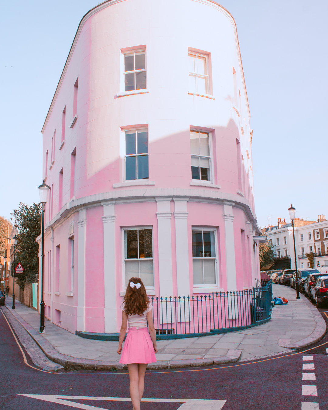 Large Instagrammable pink house in London