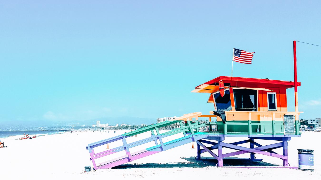 Colorful lifeguard