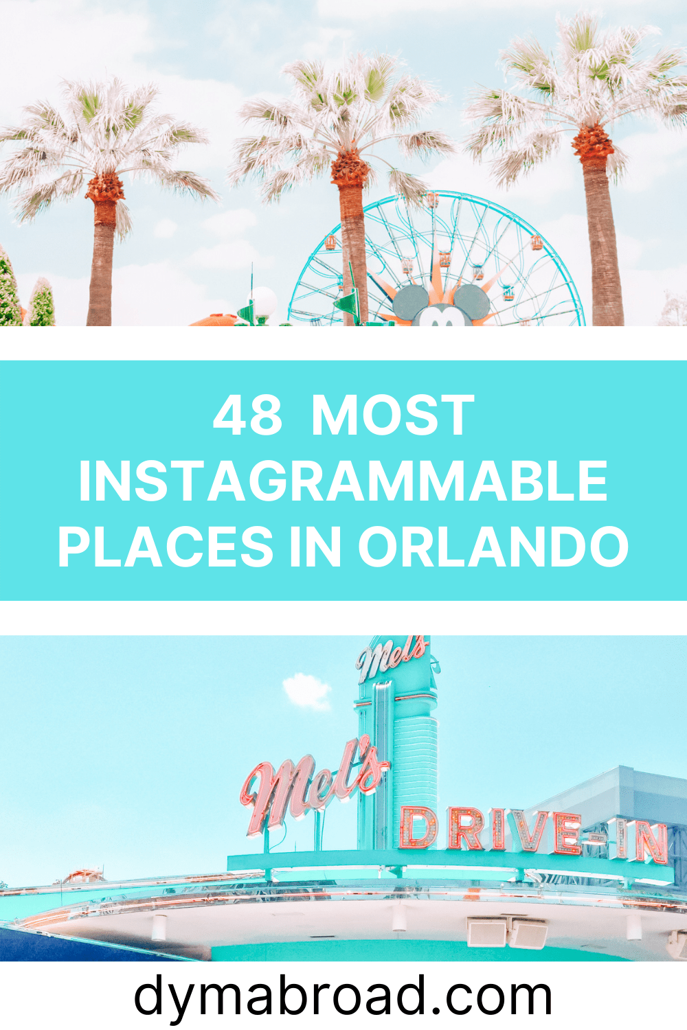 Instagrammable places in Orlando Pinterest image