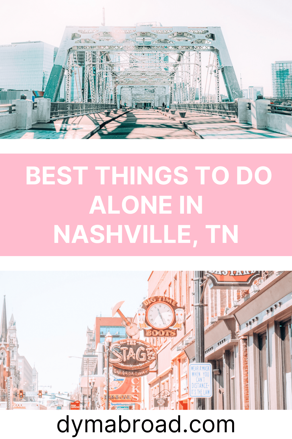 Things to do alone in Nashville second Pinterest image