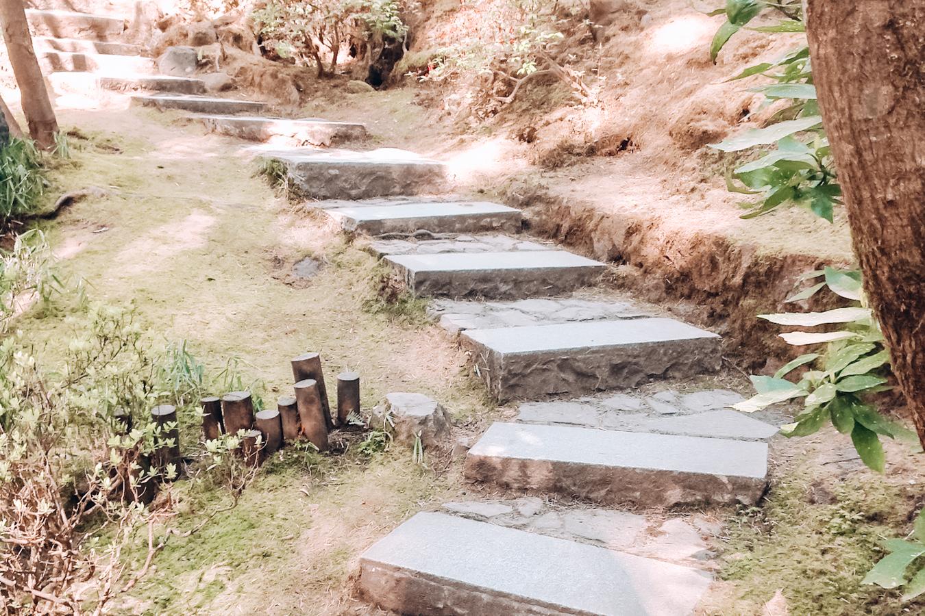 Instagrammable steps at Portland Japanese Garden