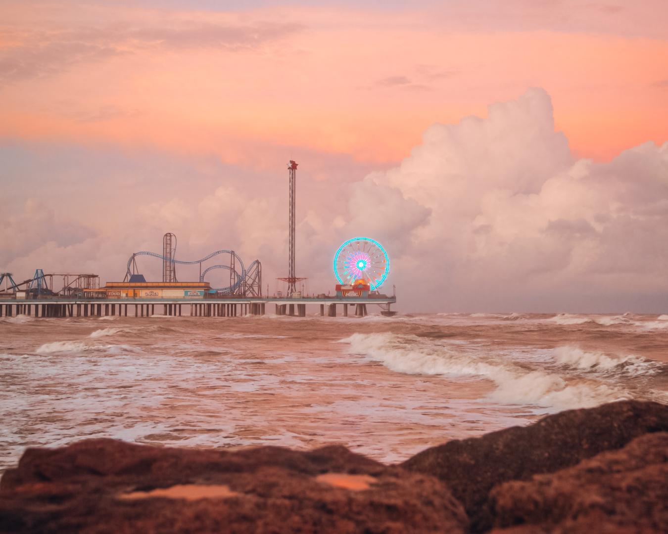 Galveston at night