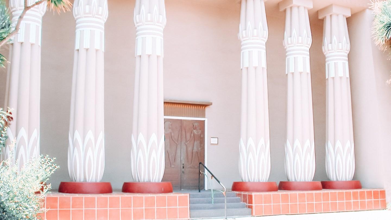 White pillars at Rosicrucian Egyptian Museum