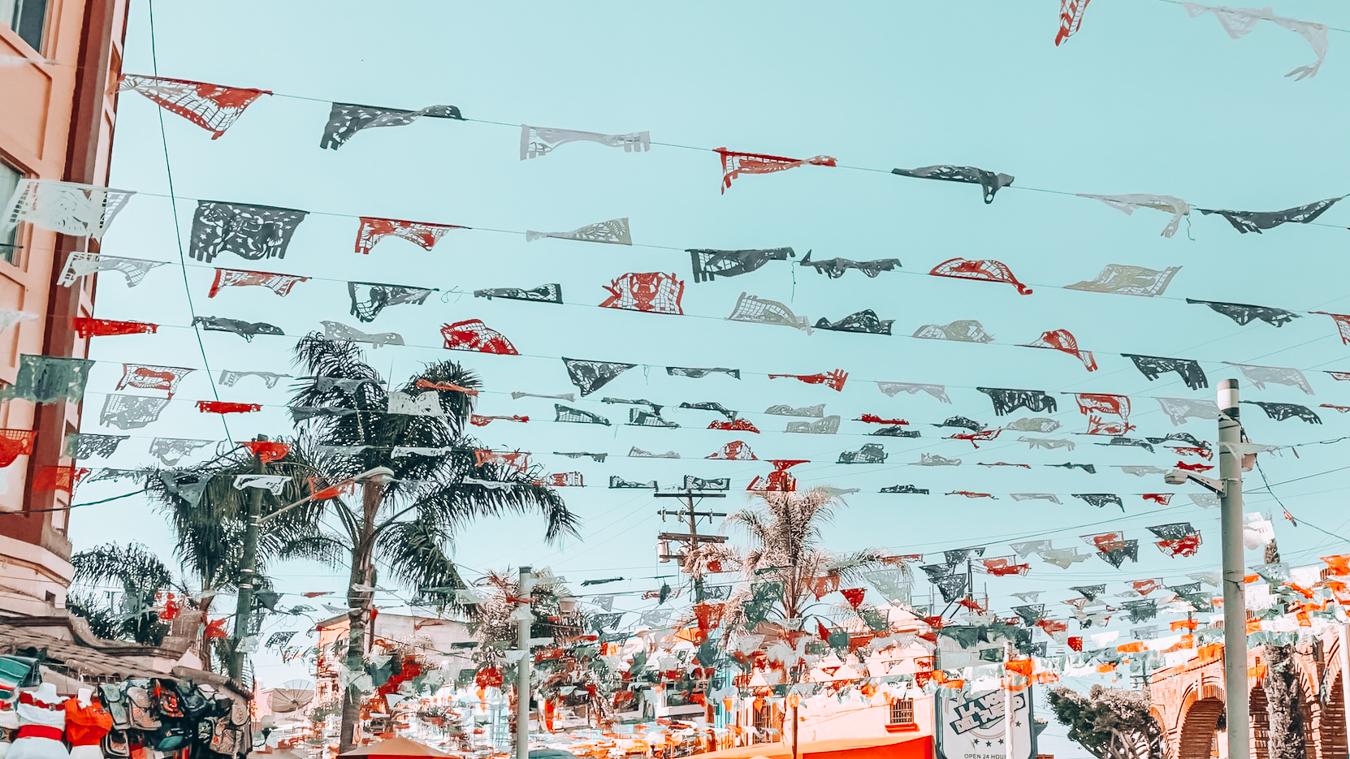 Flags in Tijuana