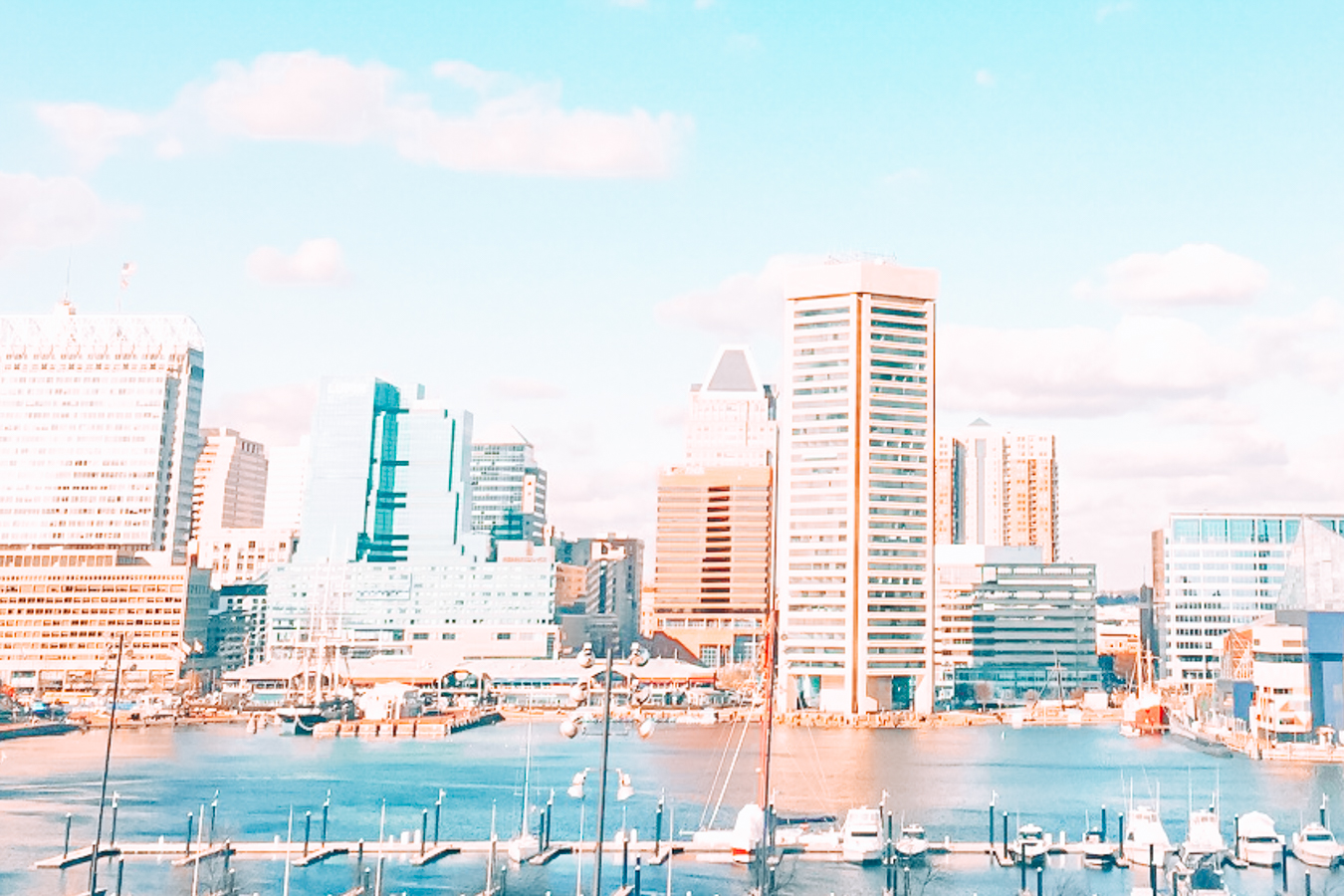 Buildings and water in Baltimore