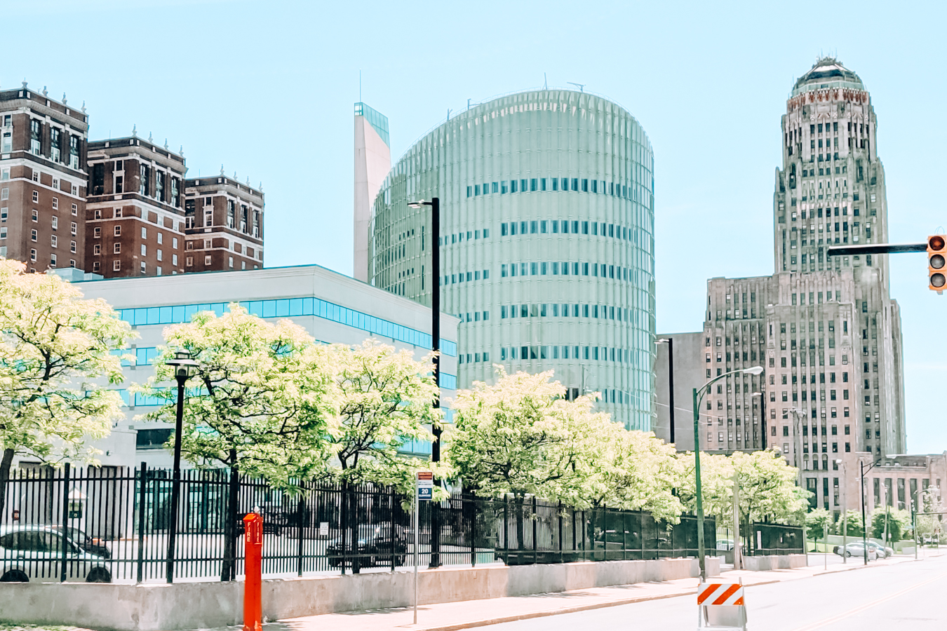 Buildings and trees in Buffalo